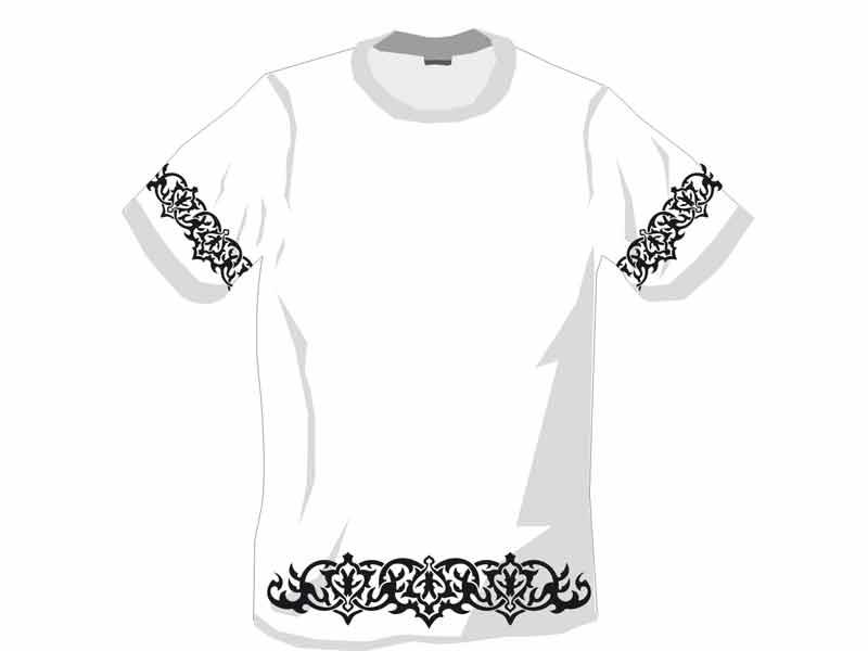 печать флок футболки